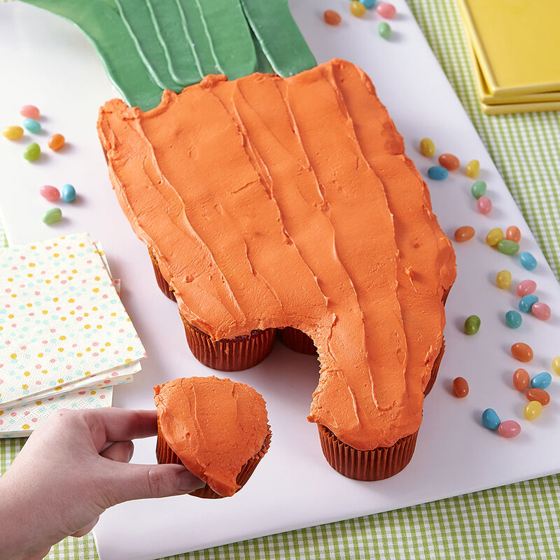 Easter Carrot Cupcake Pull-Apart image number 0