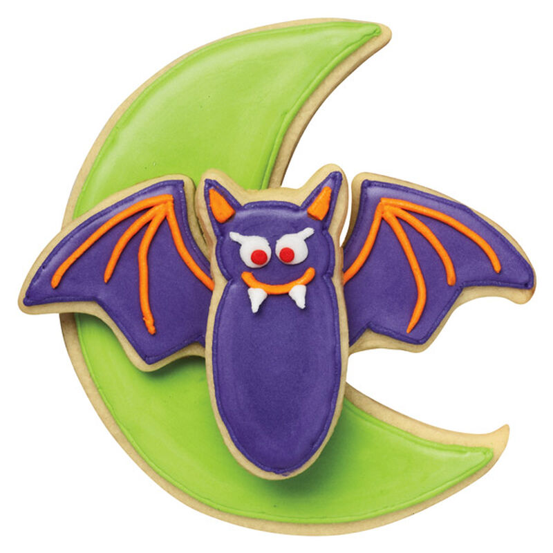 Green Moon and Purple Bat Cookies image number 0