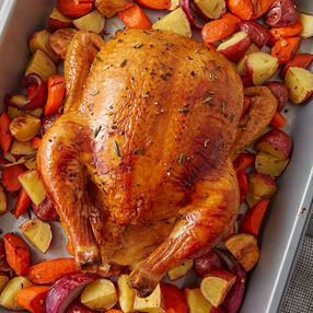 Oven Roasted Chicken with Rosemary Vegetables Recipe