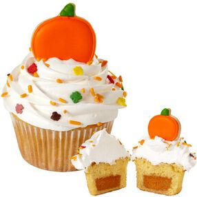 Pumpkin Pie-Filled Cupcakes