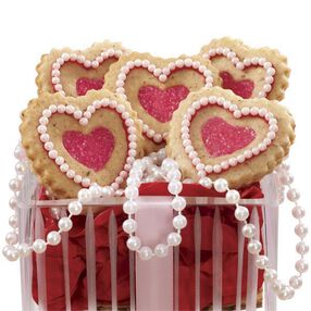 Lovely Heart-Shaped Linzer Cookies