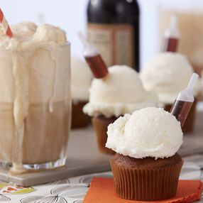 Wilton Tipsy Root Beer Float Cupcakes
