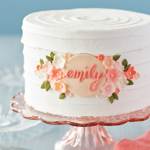 Images Elegant Floral Birthday Cake