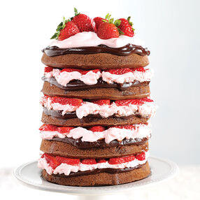 Naked Chocolate Covered Strawberry Cake