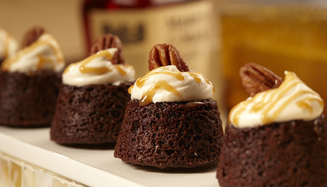 Bourbon Turtle Brownies