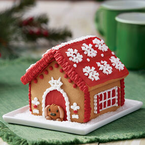 A Puppy for Christmas Gingerbread Doghouse
