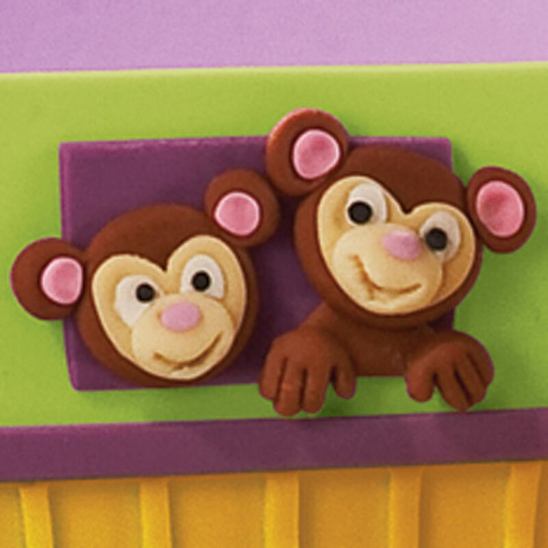 How to make Fondant Monkey Faces image number 0