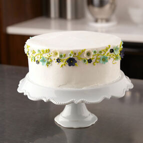 Party Cake With Fondant Flowers