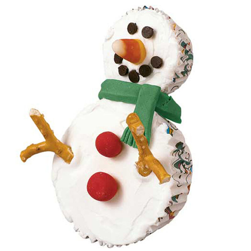 Smiling Snowman Cupcakes image number 0