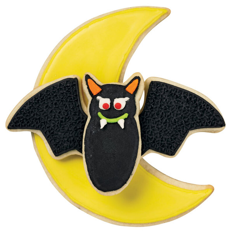 Yellow Moon and Black Bat Cookies image number 0