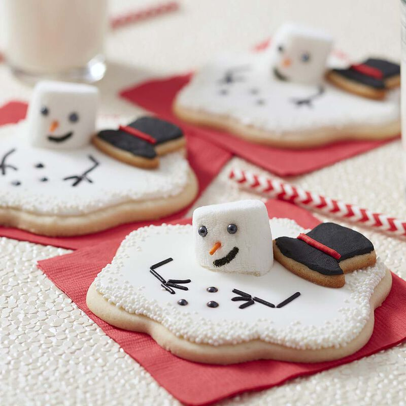 Melted Snowman Sugar Cookies image number 0
