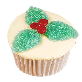 Holly Leaves Cupcakes
