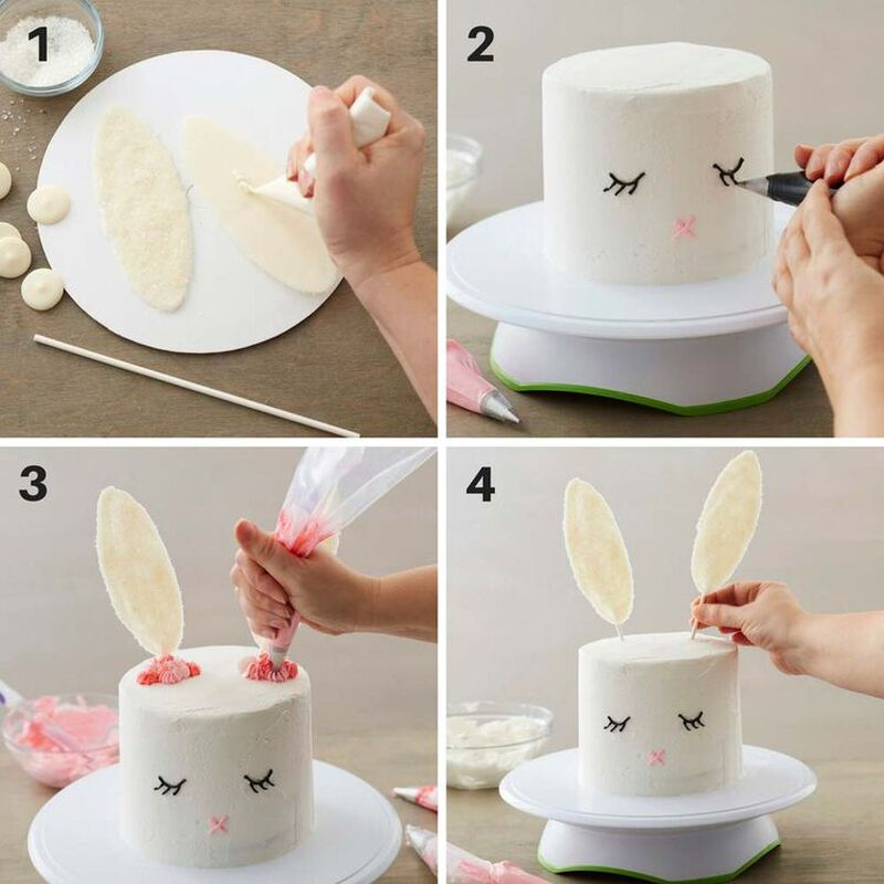 How to Make a Five Layer Easter Bunny Cake image number 2
