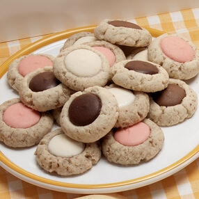 Candy Thumbprints Cookies