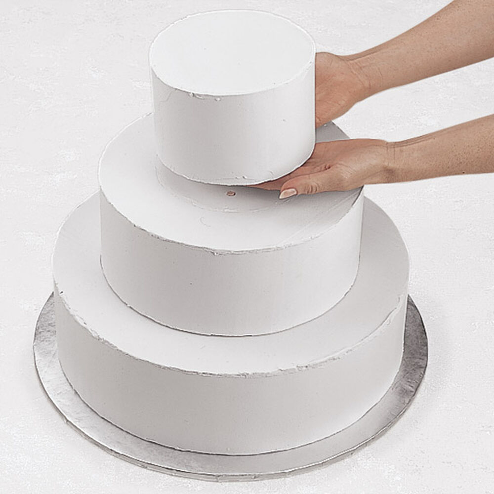 how to do a tiered wedding cake stacked tiered cake construction wilton 15711