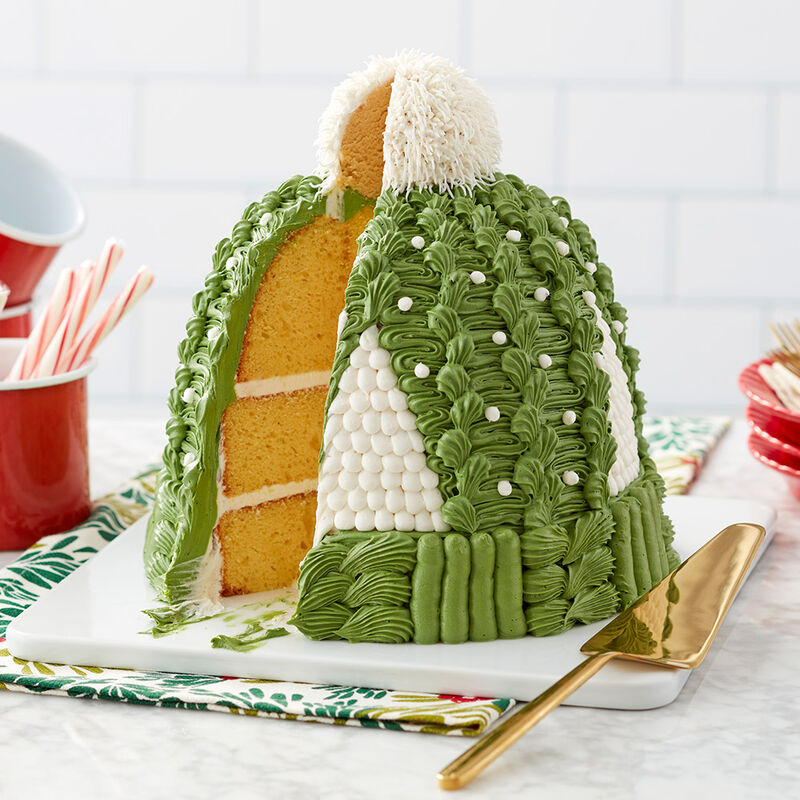 Cozy Knit Hat Cake image number 1