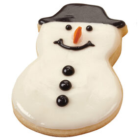 Buttoned-Up Snowman Cookies