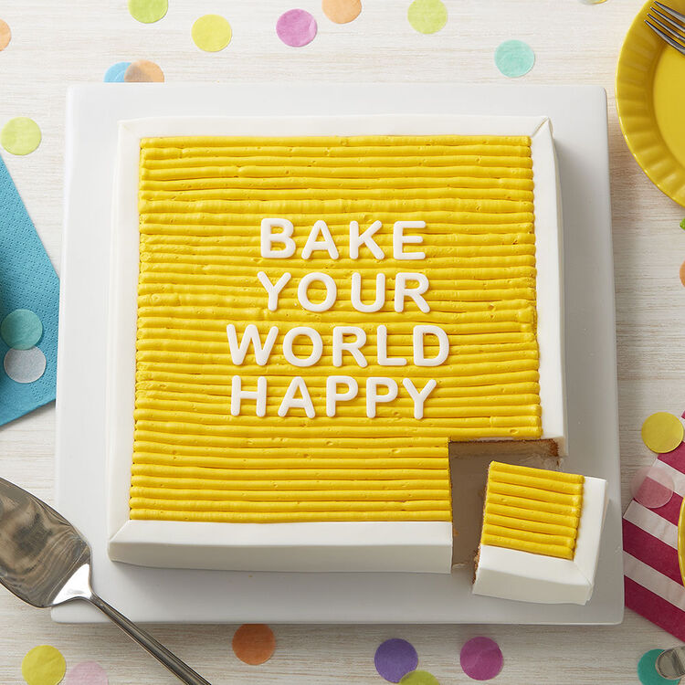 Speak Up on a Felt Board Cake Decorating Project