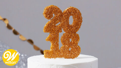 How to Make a Sparkly Graduation Cake Topper