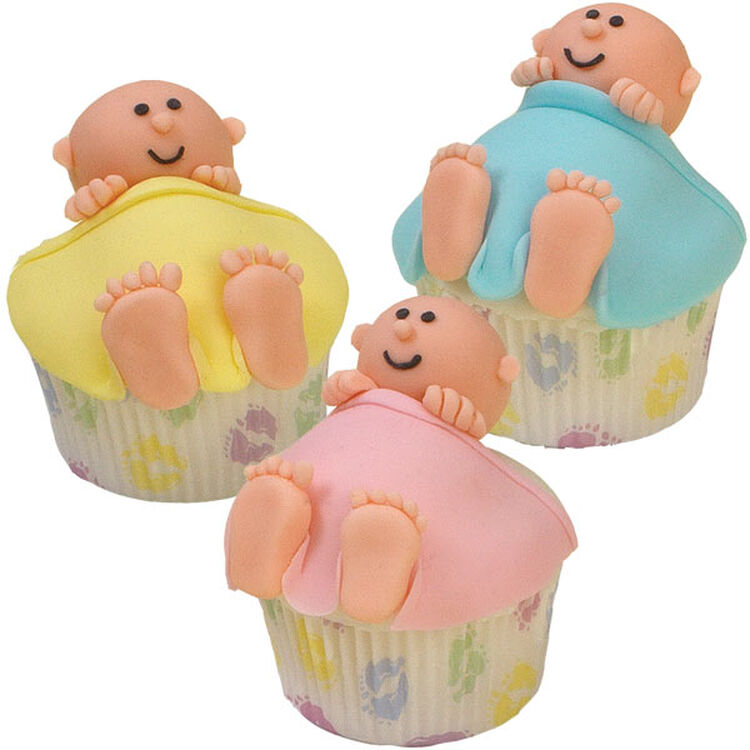 Crib Cuddlers Baby Shower Cupcakes