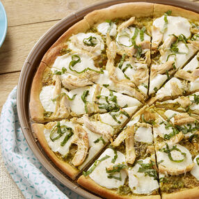 Chicken and Pesto Pizza Recipe