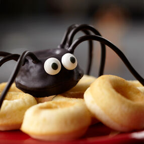 Spider Donut Recipe - Surprised Spider Mini Donuts