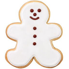 Snowman Gingerbread Boy Cookie