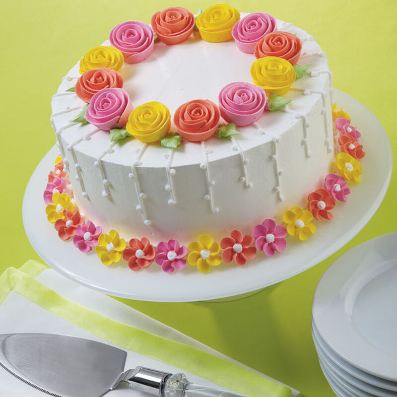 Fanciful Flowers Cake image number 0