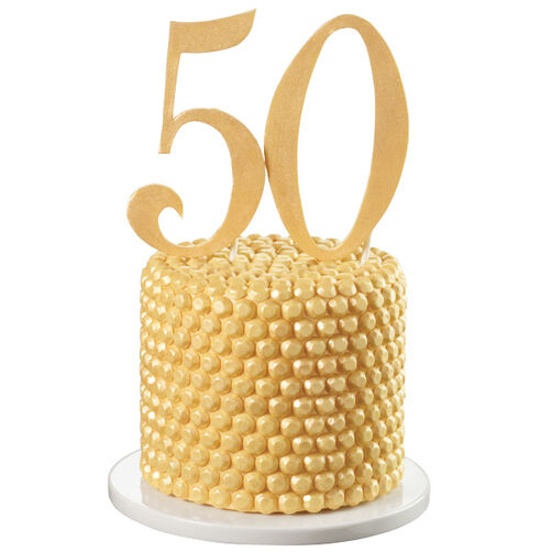 50 Golden Years Gem Cake