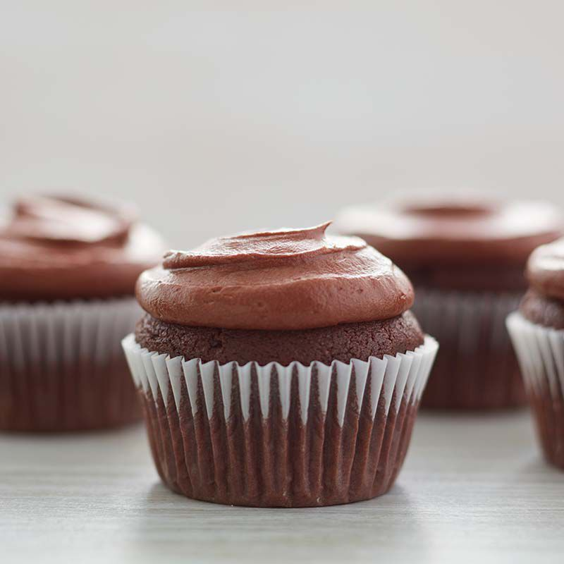 Chocolate Buttercream Frosting Cupcakes
