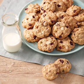 Chocolate Cranberry Pistachio Oatmeal Cookies