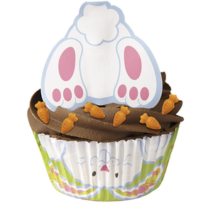 Upside Down Easter Bunny Cupcakes