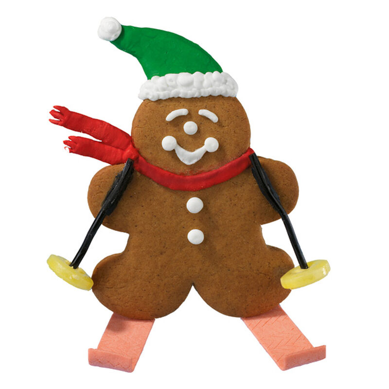 Gingerbread Skier Cookies image number 0