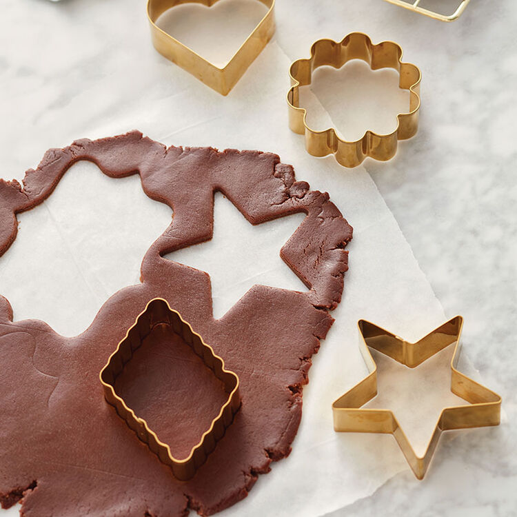 Chocolate Roll-Out Cookies - Roll out and use cookie cutters to cut into shapes and decorate!