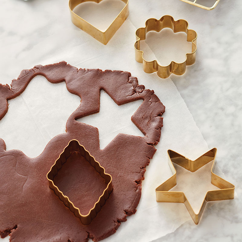 Chocolate Roll-Out Cookies - Roll out and use cookie cutters to cut into shapes and decorate! image number 0