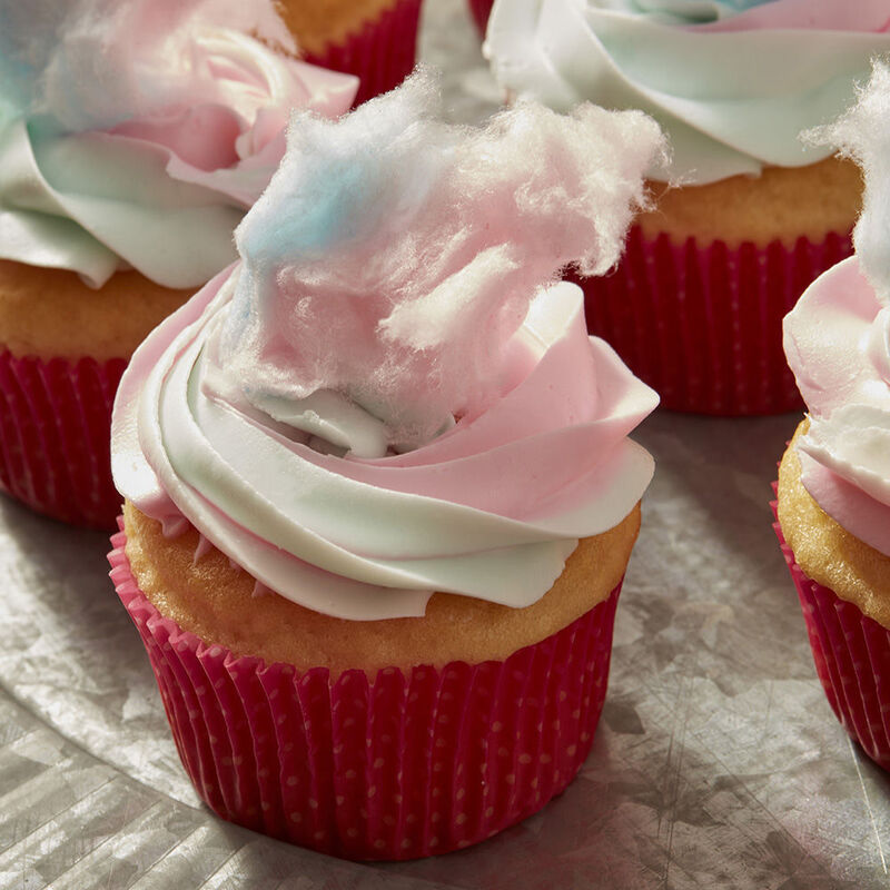 Cotton Candy Cupcakes Recipe image number 0