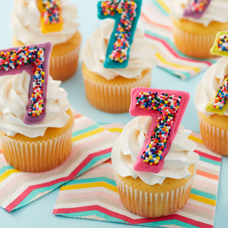 Candy Number Cupcake Topper image number 0