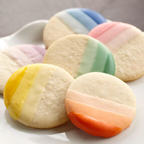 Ombre Candy-Dipped Cookies