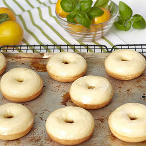 Lemon Basil Donuts Recipe