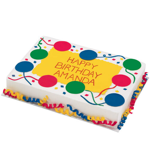 Images Bountiful Balloons Birthday Cake