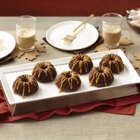 Mini Chocolate Fluted Tub Cakes with Salted Caramel Glaze Recipe