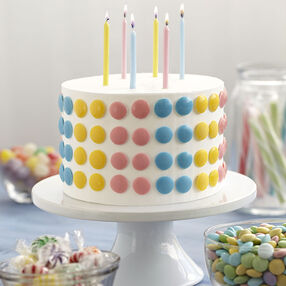 Cute-as-a-Button Candy Cake