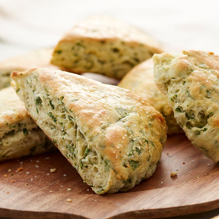 Spinach and ricotta scones