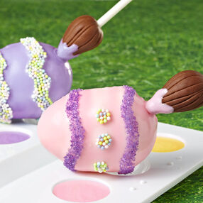 Paintbrush Easter Egg Cake Pops