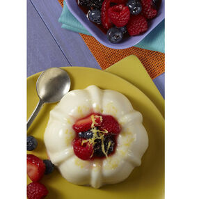 Lemon Panna Cotta with Macerated Berries