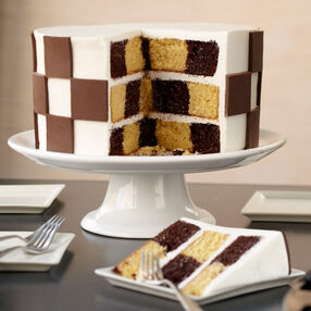 Checkerboard Candy Clay Cake