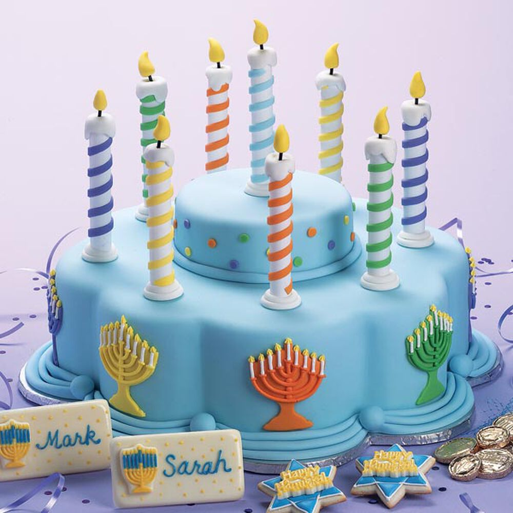 The Lights Of Hanukkah Cake