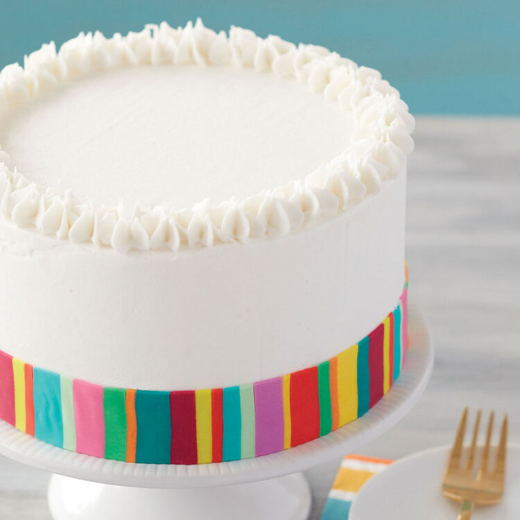 Bright Stripes and Stars Cake