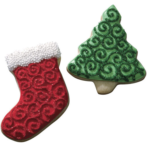 Sparkling Swirls Christmas Cookies
