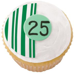 25th Anniversary Cupcakes
